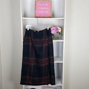 Vintage Square Plaid Skirt SZ12